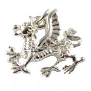 Welsh Dragon 3D Sterling Silver Charms - Wales